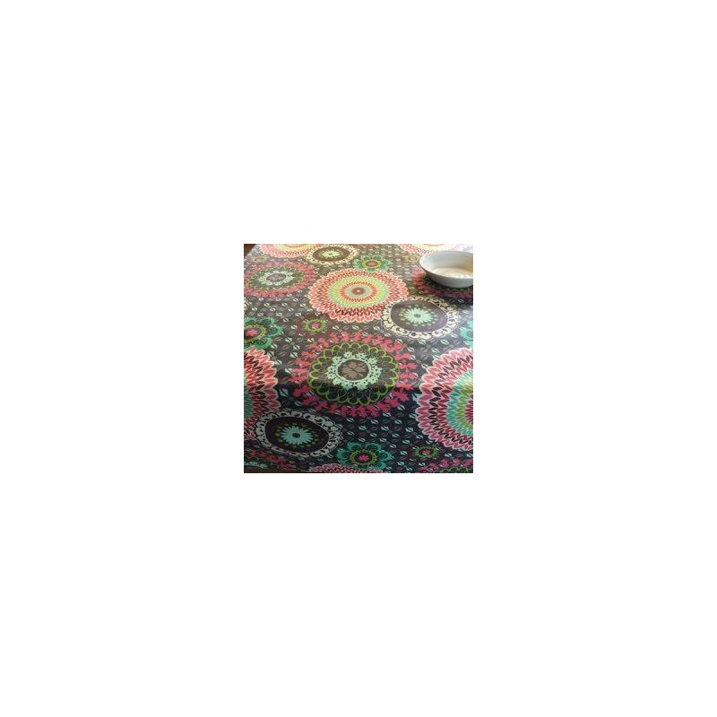 Tissu Enduit Colima Noir