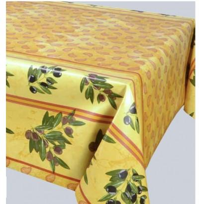 Protège Table Imprimé Banon Jaune